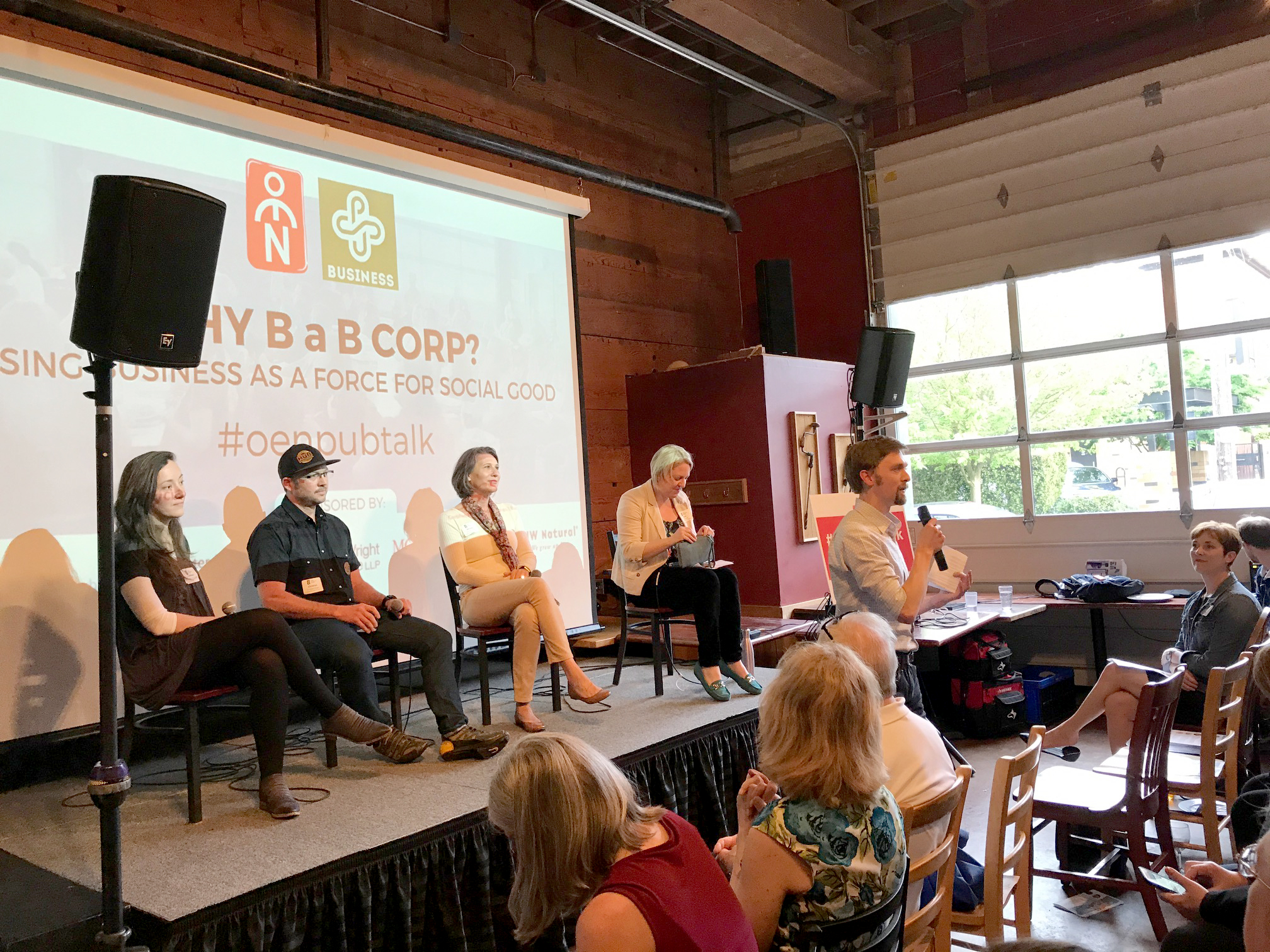 Panelists at the B Corp Pubtalk