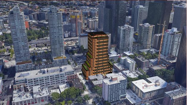Digital model of Bell V building