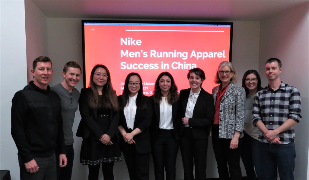 MIM students at Nike for Men's Running Capstone
