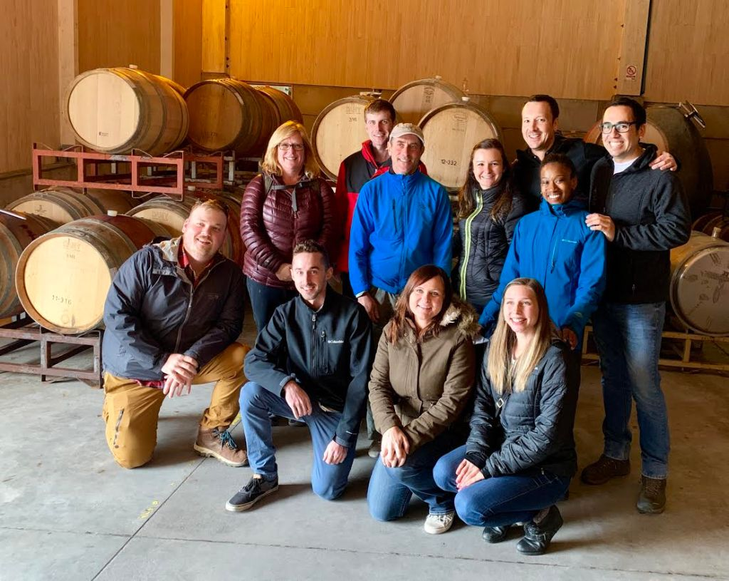 Students posing at Kingston Family Vineyards