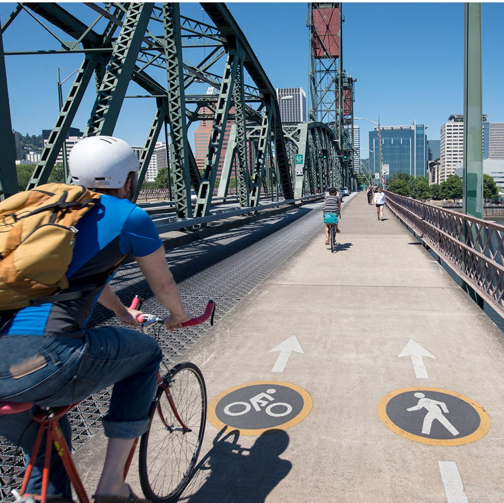 Cyclists in Portland