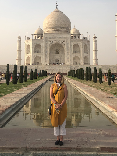 PSU Senior Instructor Maureen O'Connor in India.